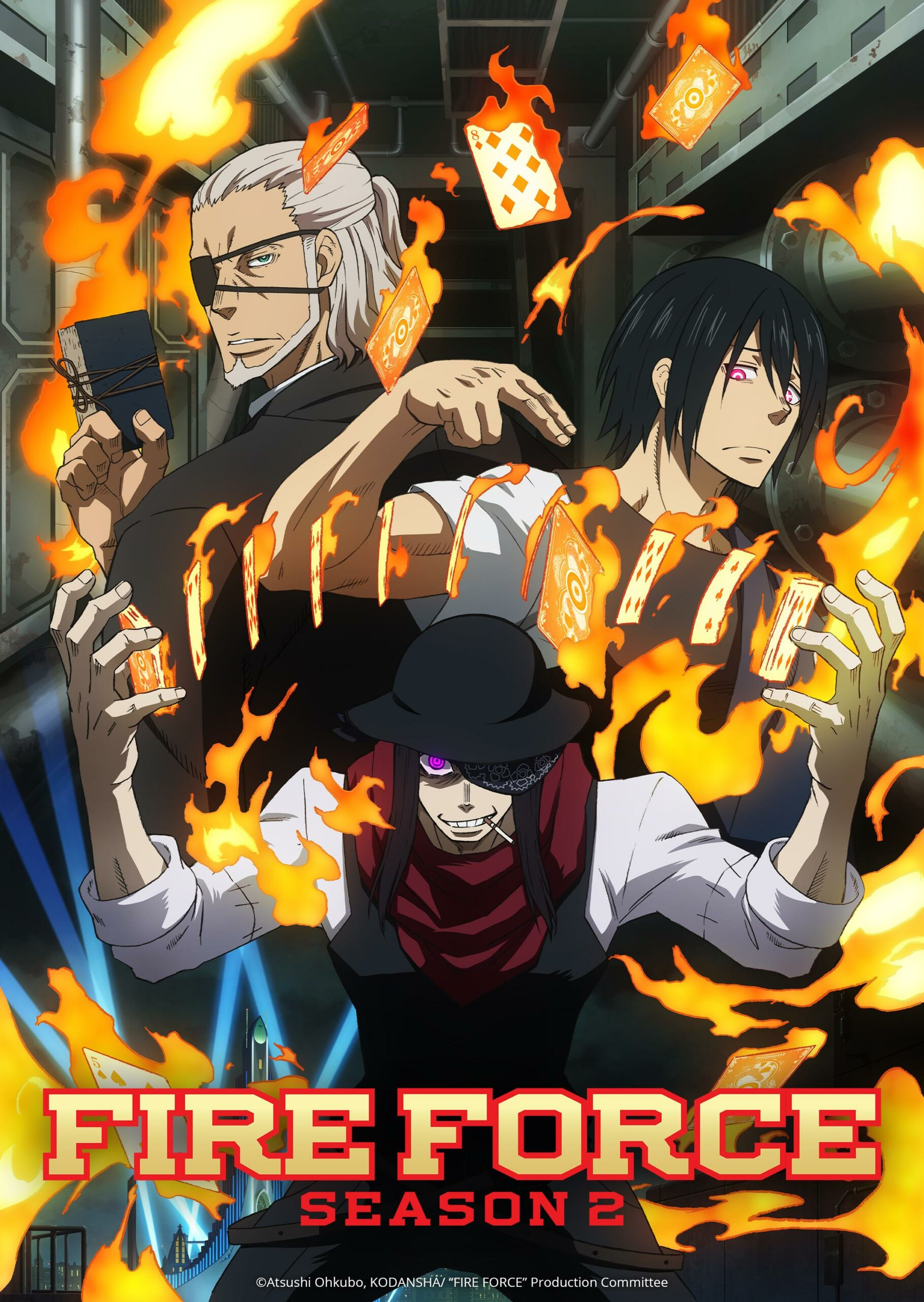 Fire Force Key Visual - 1st of the most popular shows on Netflix Japan
