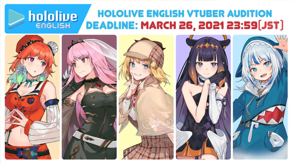 Hololive English Opens Second Round Audition