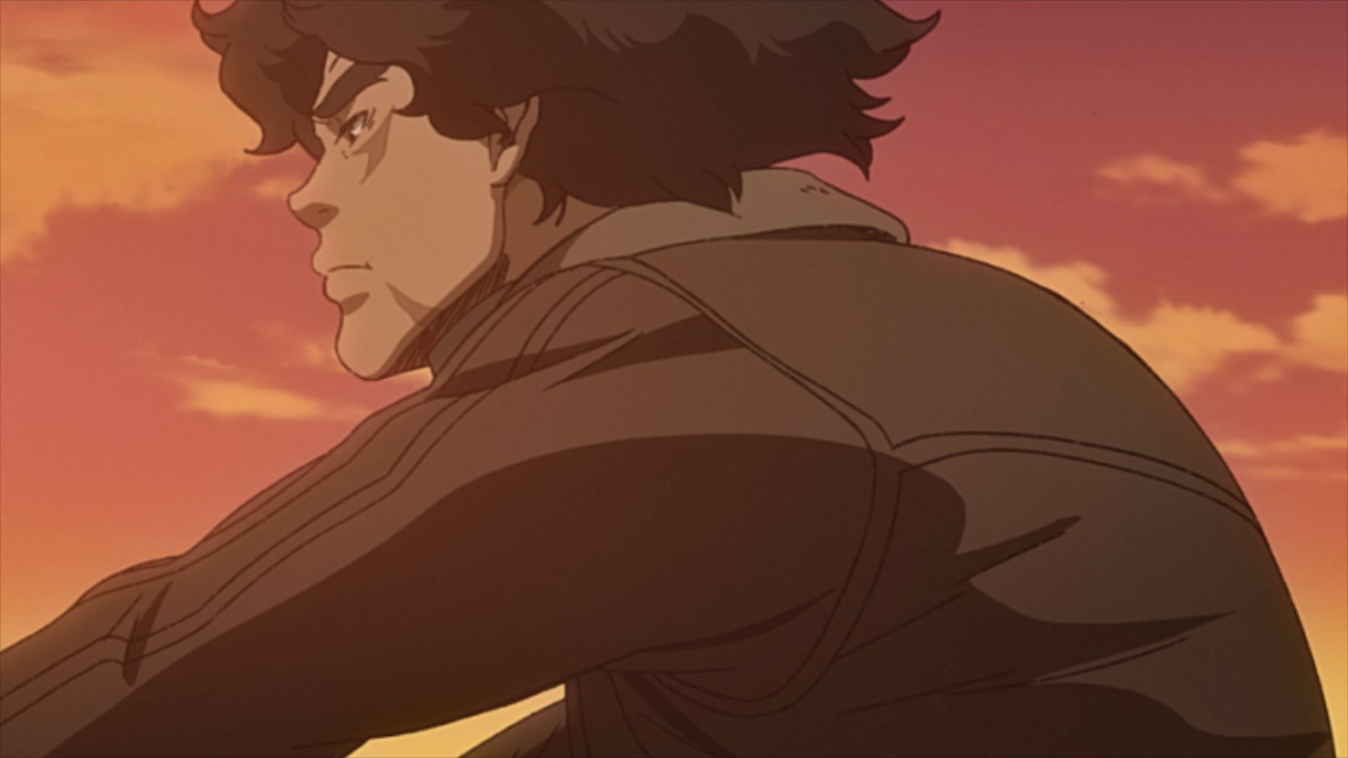 Joe riding off in the sunset in Megalo Box 2