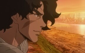 Joe looking towards the sunset in Megalo Box 2